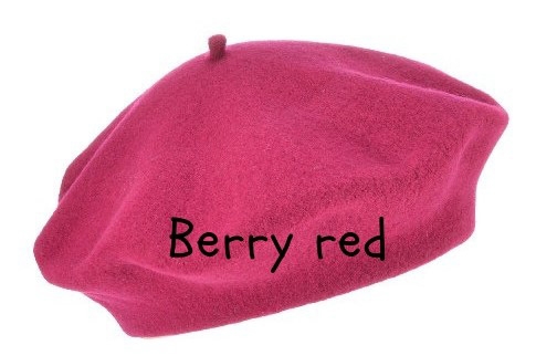 Alpehue i Berry red (fuxia)